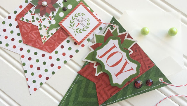 Banner Day online paper craft class taught by Aly Dosdall for Big Picture Classes #holidaydecor #Christmasbanner #papercraftsclass