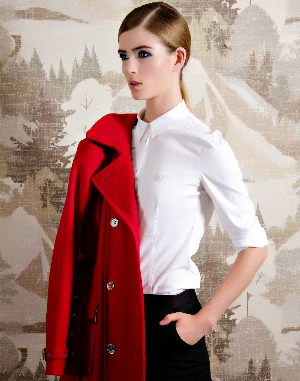 masculine tailoring with androgynous hairstyling for a fall editorial magazine shoot