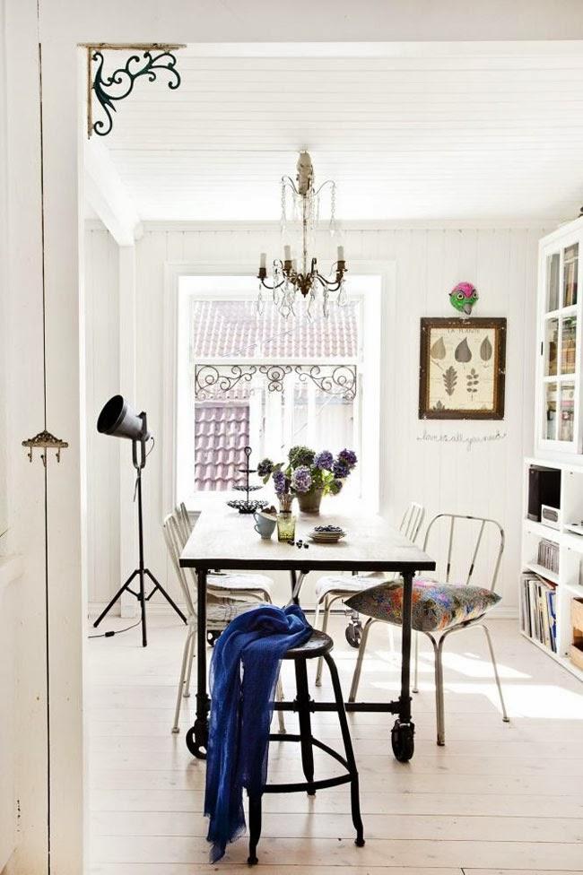 decorar comedor estilo nordico en gris y negro