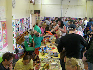 tombola bouncy castle cake stall raffle
