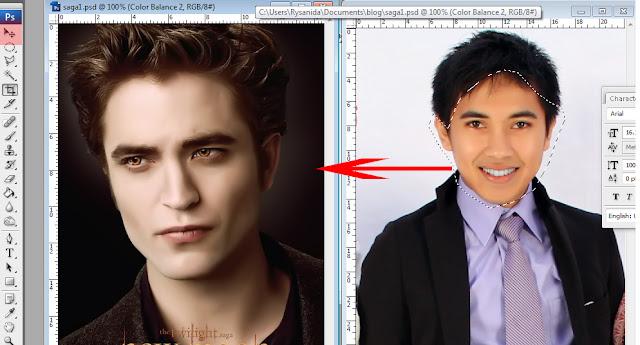 saga10 Mengganti wajah dengan mudah di photoshop