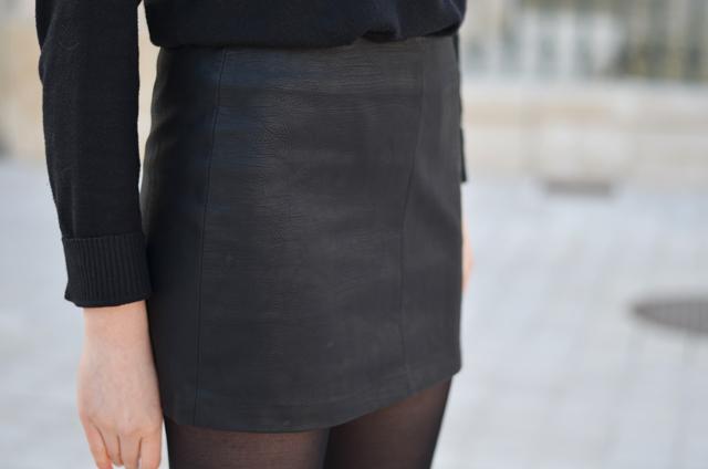Ohcommentçava - Jupe faux cuir noir zara