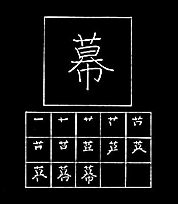 kanji tirai