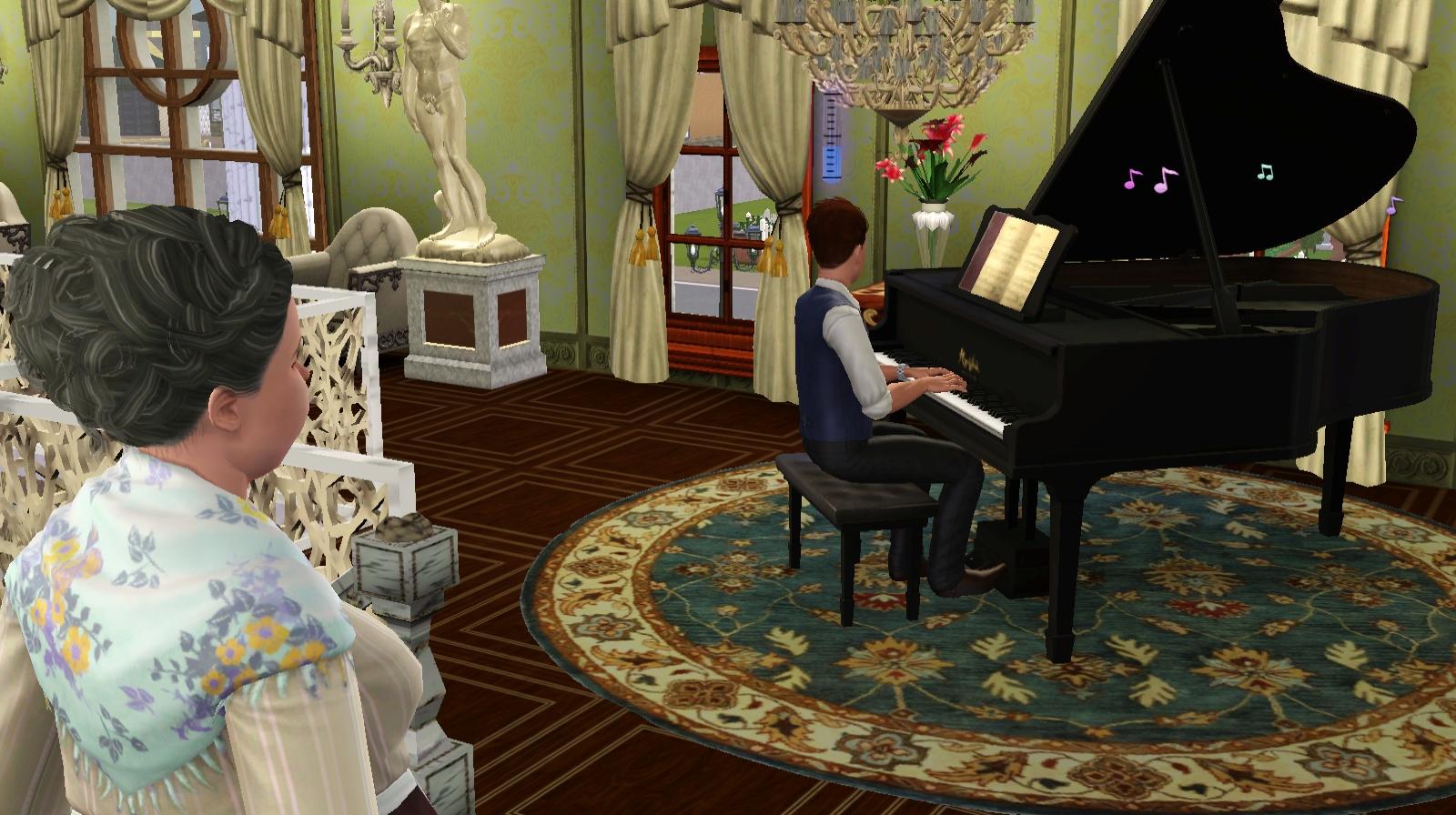 ジョーのピアノを聴くエマ