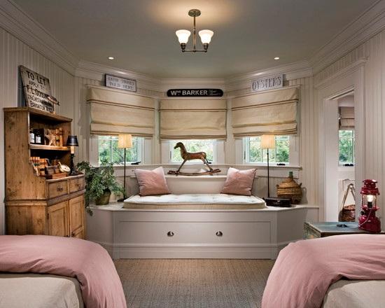 Decoracion Ventanas Dormitorios ~   los elementos se convierten en un bello dormitorio para dos ni?as