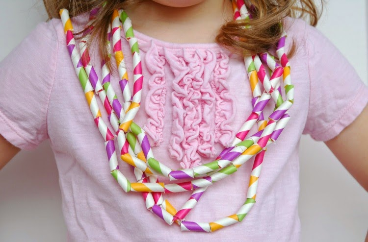 Fine Motor Necklace Craft for Spring Theme- Weekly Homeschool Preschool