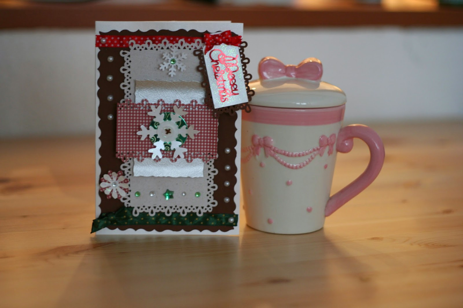 Śnieżynkowe kartki świąteczne