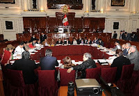 Sesión de la Comisión Permanente del Congreso el 18 de julio de 2011. Foto. Andina/CDR