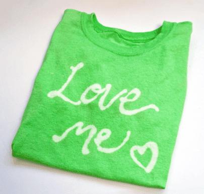 Sevgiliye tişört hazırlama