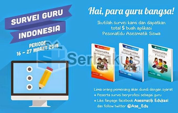 Kuis Survey Guru Indonesia Berhadiah 5 Aplikasi PesonEdu Asesmatik