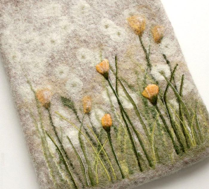Чехол для планшета. Валяние из шерсти. Case for Tablet - felting wool.