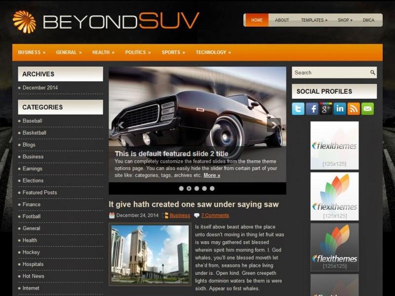 BeyondSuvs - Free Wordpress Theme