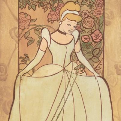 Cinderella wearing her nice gown