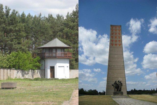Campo de concentracion de Sachsenhausen - Torre de vigilancia y Monumento del Lugar Nacional del Recuerdo y Conmemoracion