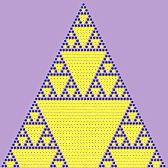 Triángulo de Pascal y Fractal de Sierpinski | Desde mi anosognosia