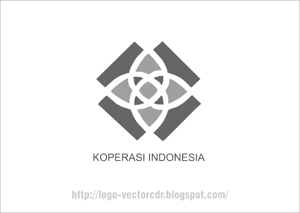 Koperasi (Black White Mode) Logo Vector download free
