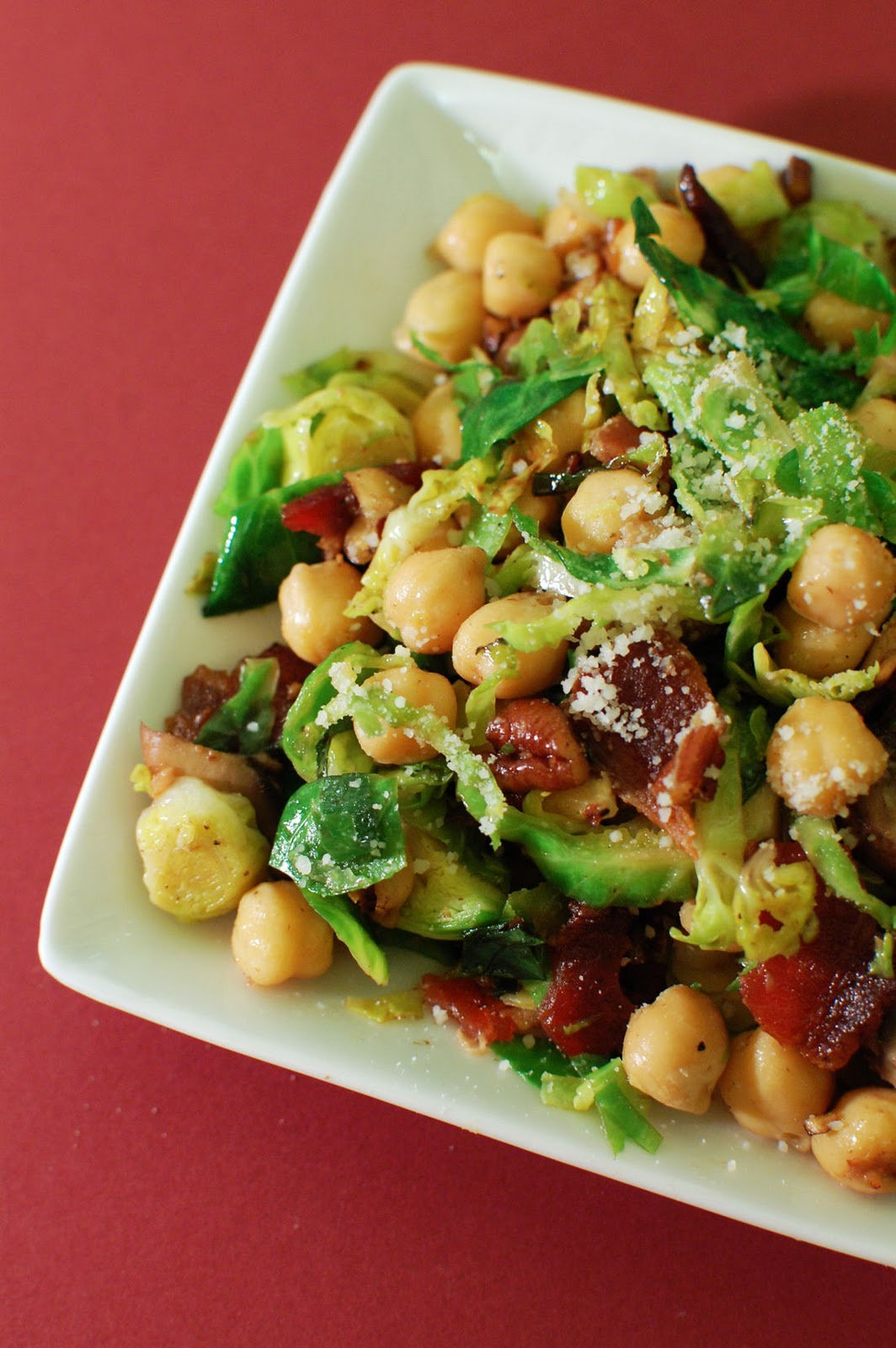 Warm Chickpea, Mushroom, and Brussels Sprouts Salad ...