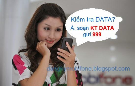 Kiểm tra dung lượng các gói 3G Mobifone