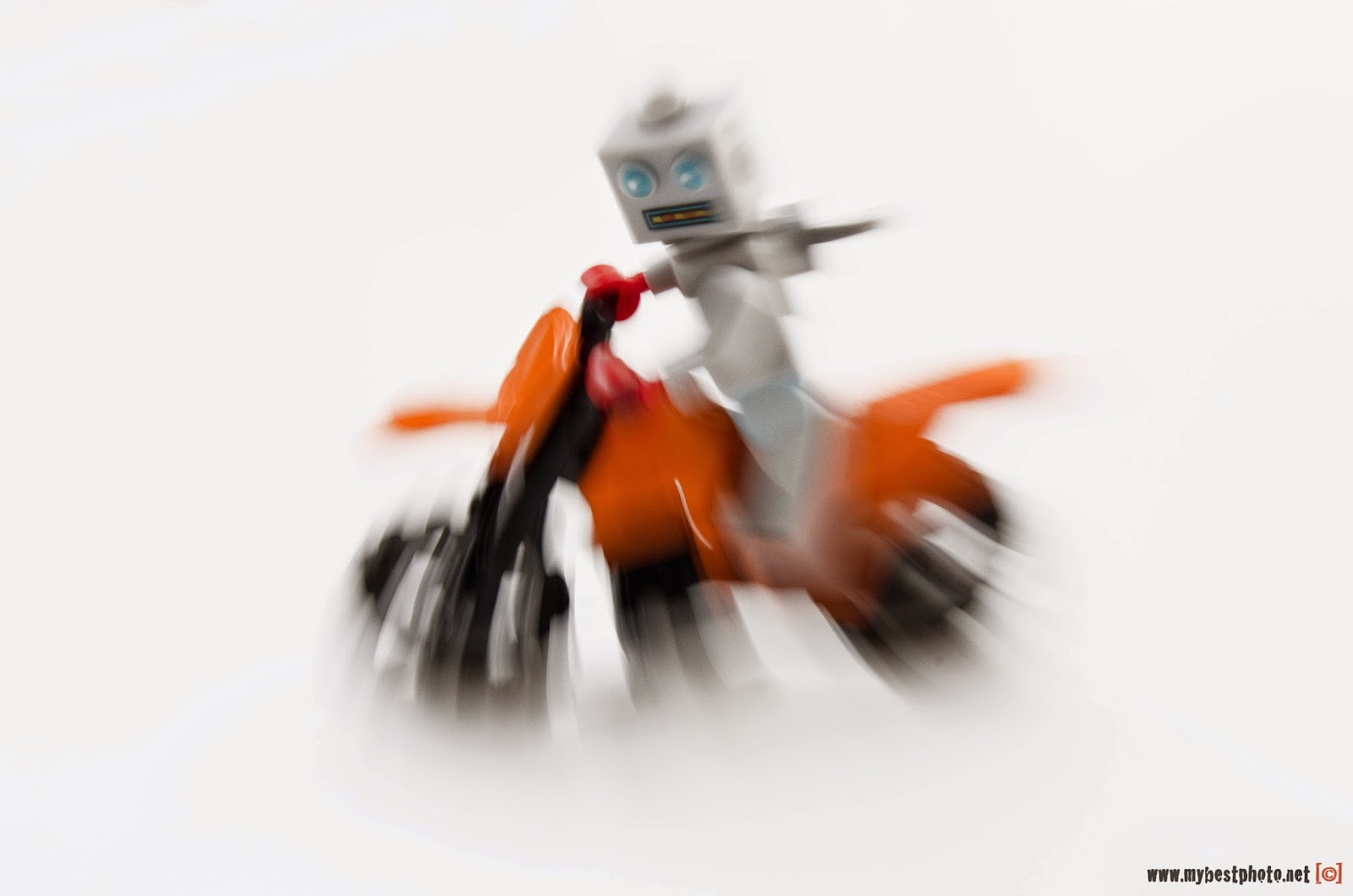 Lego Minifigure Series 6 Clockwork Robot Bike - Wallpaper
