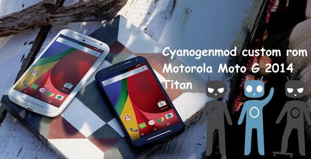 cyanogenmod cm 12.1 custom rom on motorola moto g 2014 titan