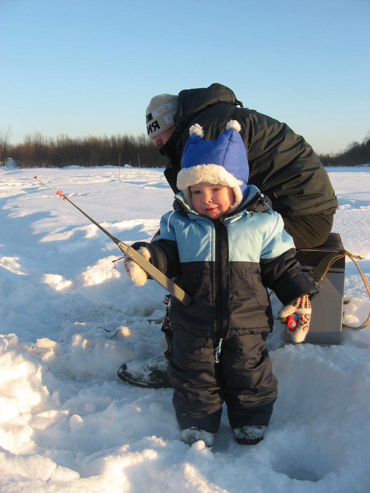 фото зимней рыбалки дети