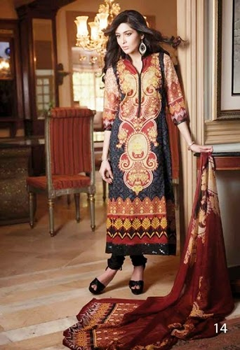 Al Zohaib Anum Chiffon Collection 2014