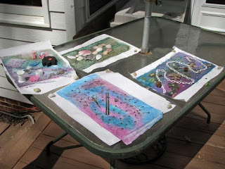 Deborah Younglao silk painting workshop: sun printing