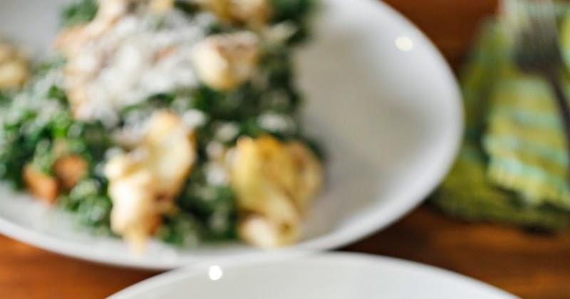 Kale Caesar Salad + Seared Artichoke Hearts