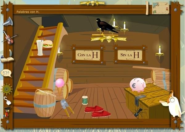 http://juegoseducativosonlinegratis.blogspot.com.es/2013/05/los-piratas-de-la-ortografia-uso-de-h.html