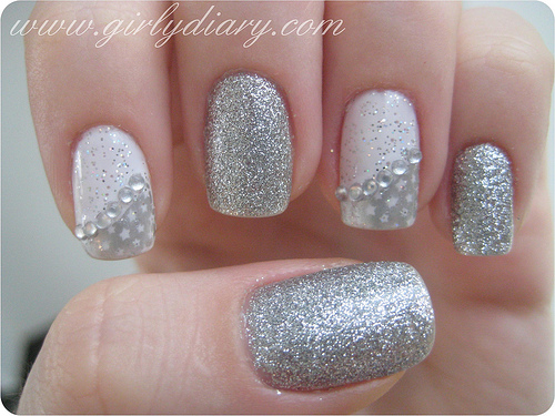 Wonderful silver nails designs nail picture art wonderful silver nails designs prinsesfo Gallery