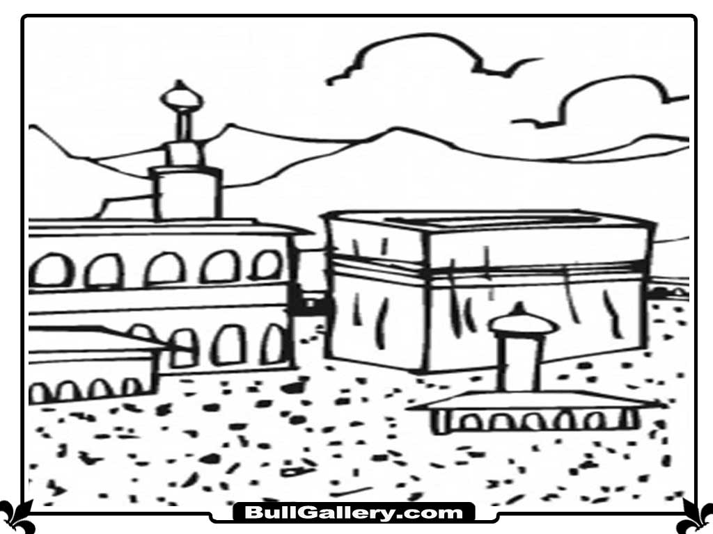kaaba islamic kids coloring pages bull gallery