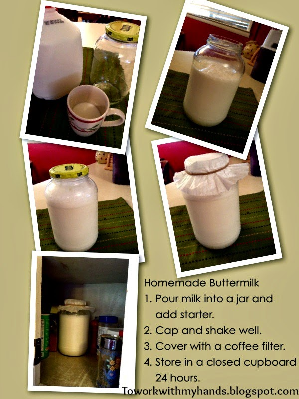 Make your own buttermilk in 4 easy steps.
