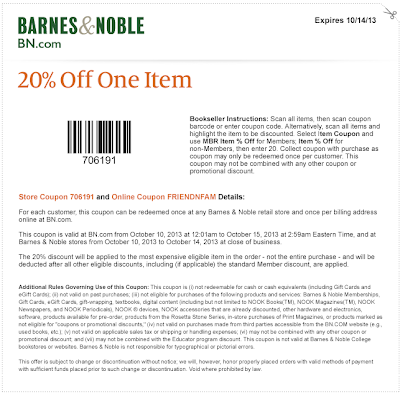 Bn coupons 20 off