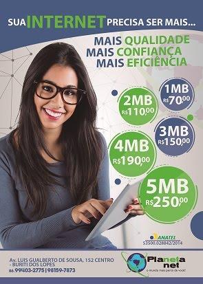 INTERNET É PLANETA NET