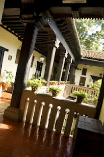 Interior of Hotel Mansion Iturbe in Patzcuaro