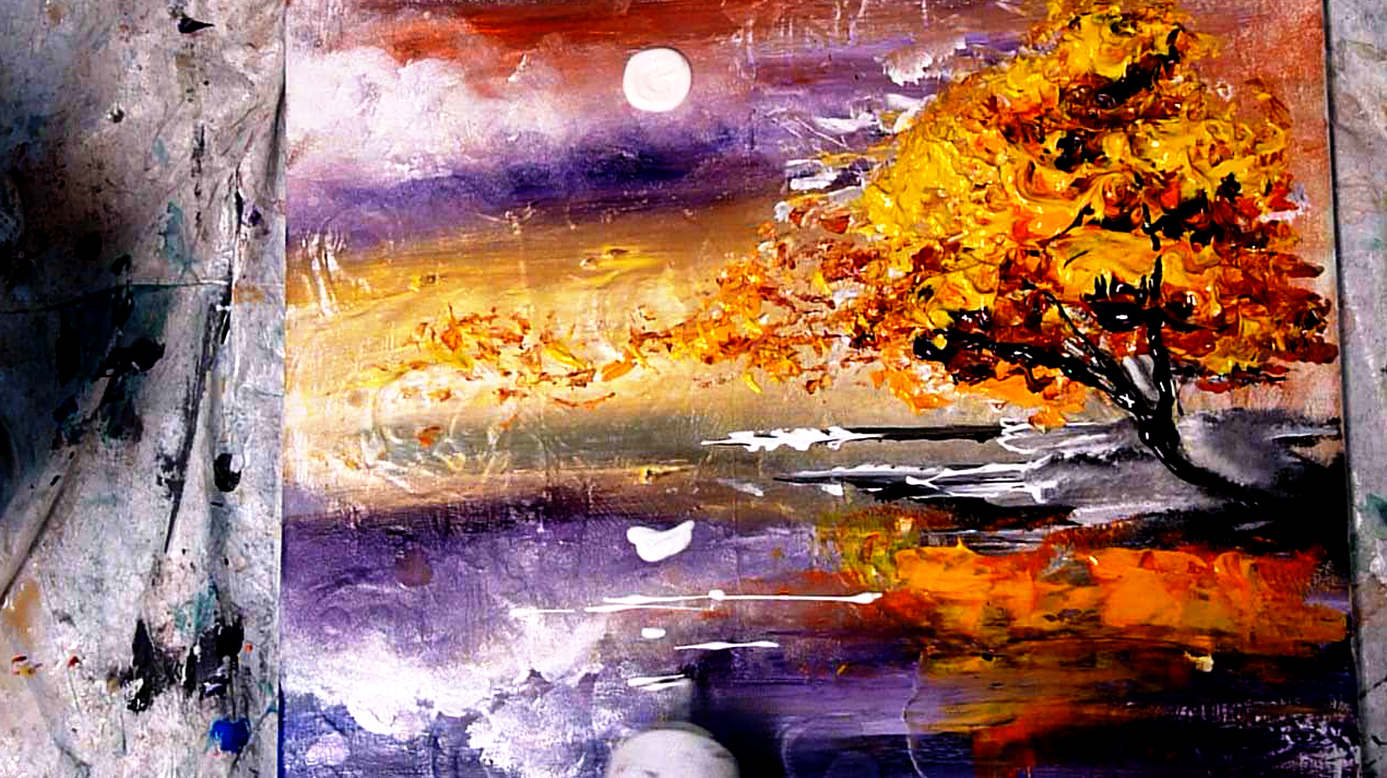 Abstract art modern painting techniques by dranitsin new for Abstract watercolor painting tutorial