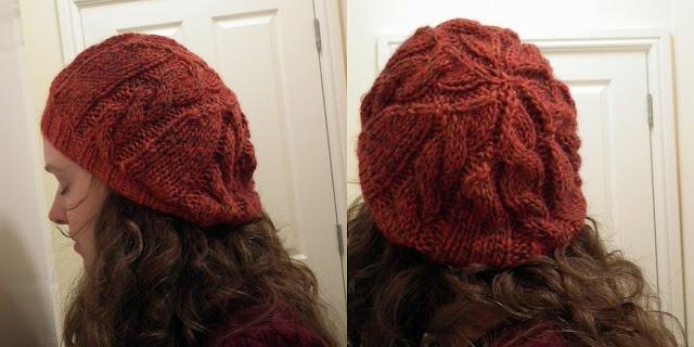 Quick Cable Slouch Hat, Azure, Debbie Bliss