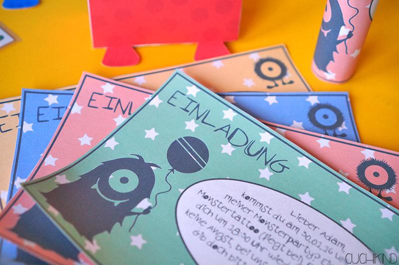 Cuchikind - DIYs für Kinder: Einladungen zur Monsterparty (Printables)