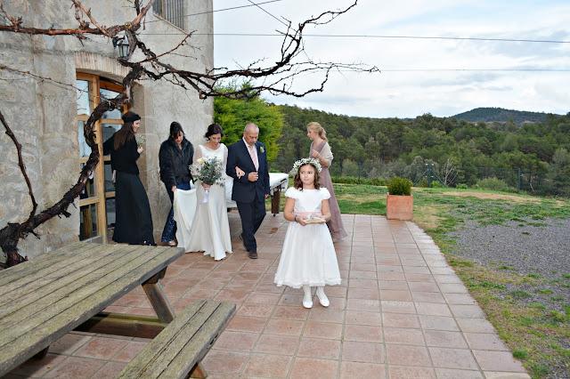 novia boda rural masia