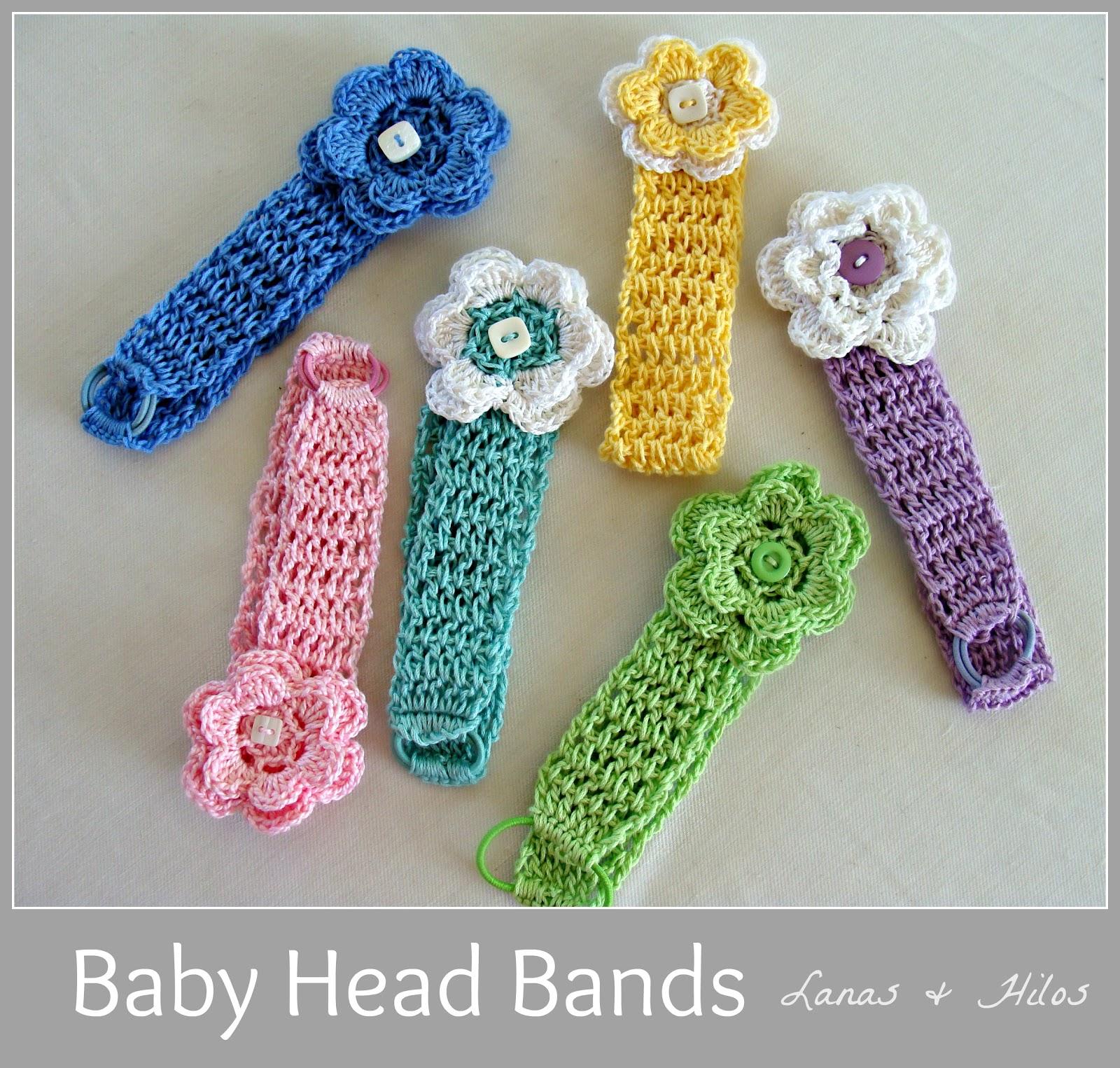 Crochet Hair Bands : Hace poco hiceuna coleccion de Cintas para bebE en crochet. Hubo ...