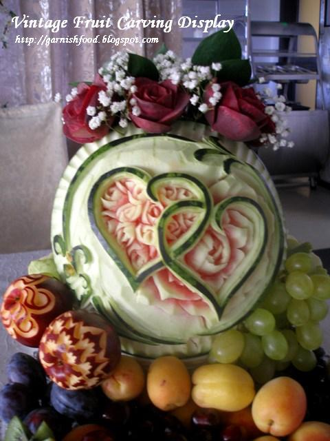 fruit decoration design vintage style