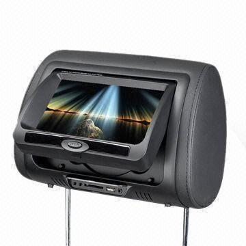 Dvd car player headrest