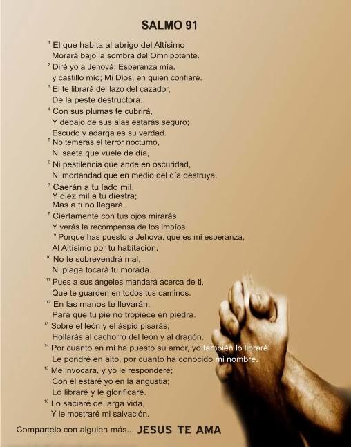 Imagenes para facebook salmo 91 salmo 23 frases