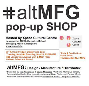 Pop-Up Shop: May 18, 7-10PM Xpace Cultural Centre