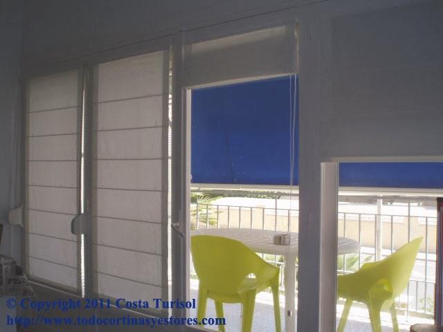 Decoracion interior cortinas verticales estores enrollables puertas plegables toldos - Puerta terraza ...
