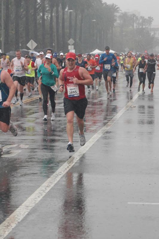 Rainy LA Marathon 2011