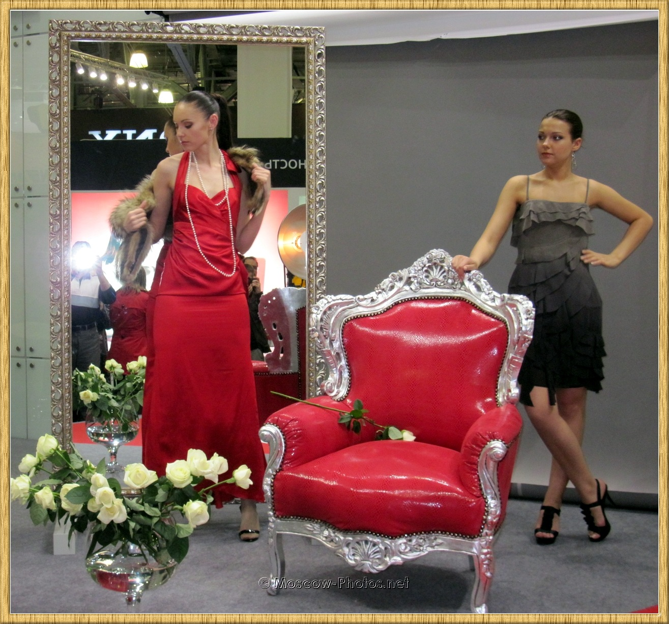 Moscow Models Posing In Dresses at Photoforum 2010