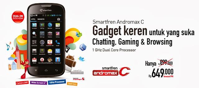 Harga Spesifikasi Smartfren Andromax C Hape Dual SIM Murah