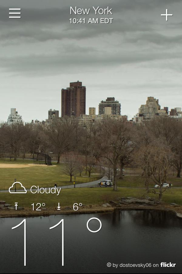 Погода в Нью-Йорке