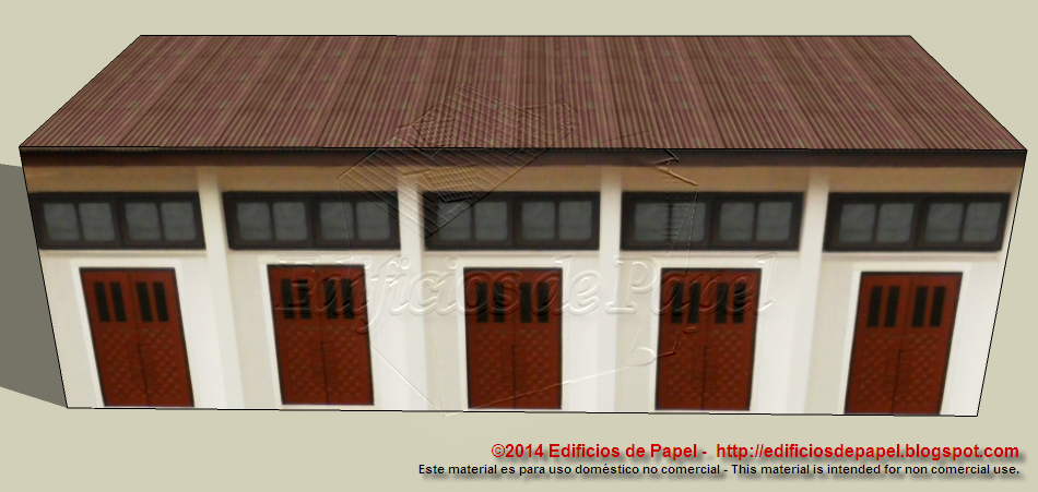 Edificio de Talleres / Workshop Building - Maqueta de papel 1547